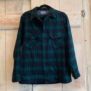 Pendleton | Green Tartan Wool Button Up Shirt